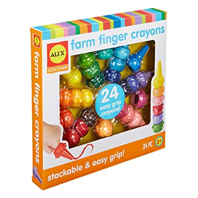 Alex Little Hands Farm Finger Crayons Kids Toddler Art and Craft Activity: Toys & Games