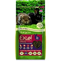 Excel Burgess Nuggets with Cranberry and Ginseng Mature Rabbit Food 2kg (pack of 2)