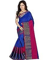 Hitarth Fashion Women's Silk Saree With Blouse Piece (Sfs1540_Blue)