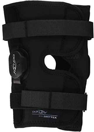 d2db9d36a3 DonJoy Deluxe Hinged Knee Brace, Drytex Wrap Around, Open Popliteal, Large