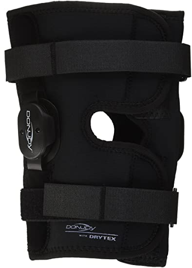 f0f6596431 DonJoy Deluxe Hinged Knee Brace, Drytex Wrap Around, Open Popliteal, Large