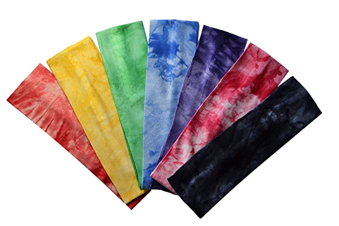 Funny Girl Designs Set of 7 Marble Tie Dye Cotton Lycra Stretch ... 504c6e4890a