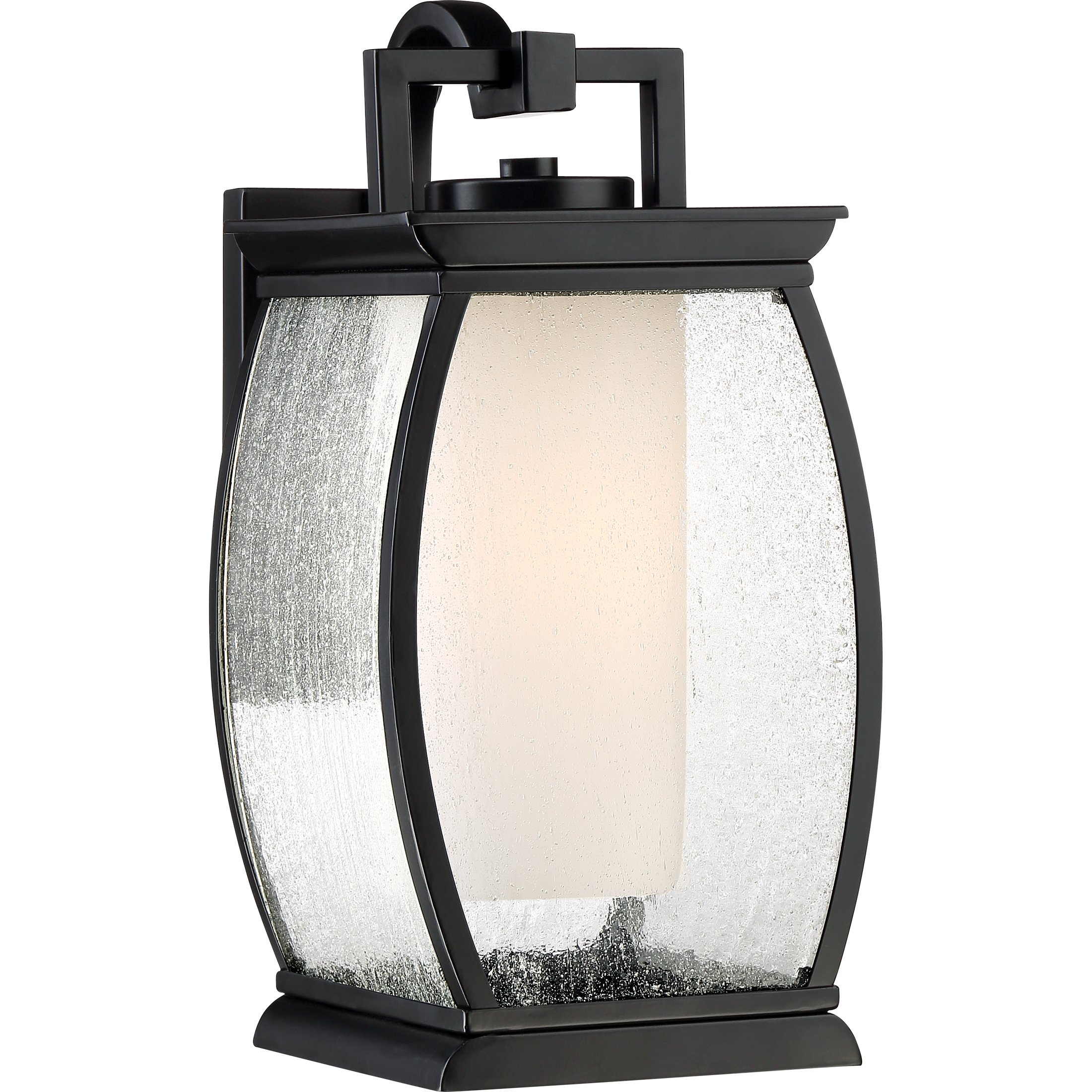 Quoizel One Light Outdoor Wall Lantern TRE8407K, Medium, Mystic Black