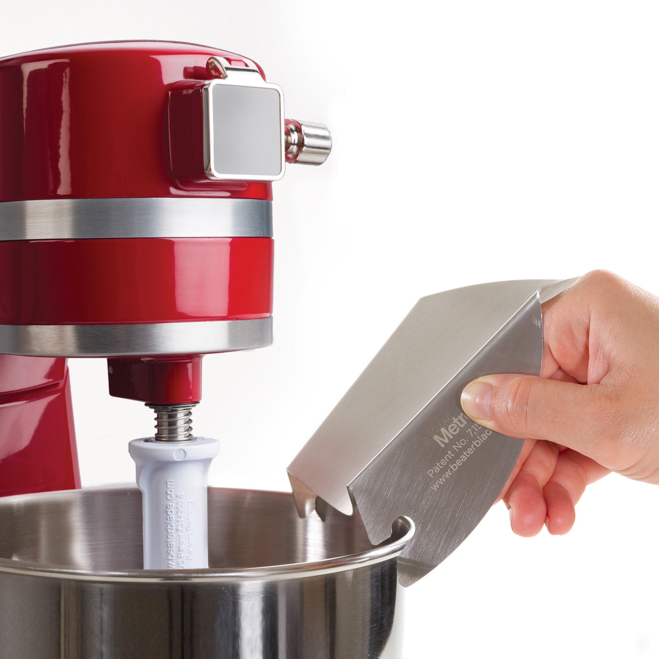 New Metro Design Universal Pouring Chute for Use with Stand Mixers with Metal Bowls, Stainless Steel by New Metro Design (Image #2)