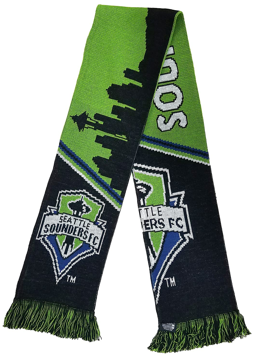 Amazon.com : MLS Seattle Sounders FC Bar Scarf, Green, One Size ...