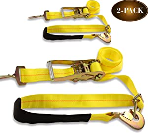 DC Cargo Mall 2 Ratchet Axle Strap Tie Downs (2