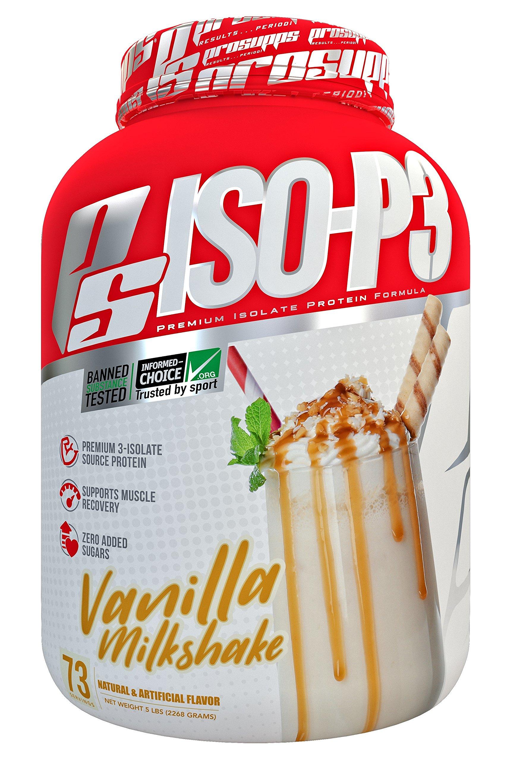 Pro Supps Iso-p3 Premium Isolate Protein Formula, Vanilla Milkshake, 5 Pound