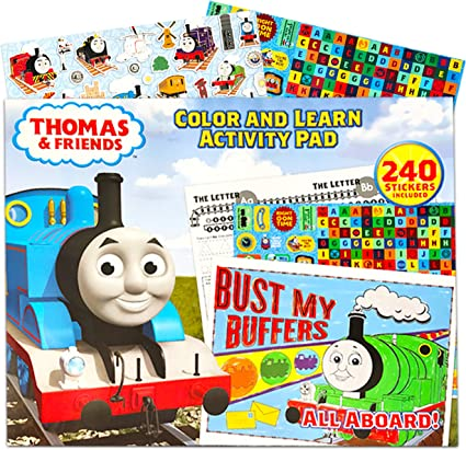 Amazon.com: Thomas The Train Coloring Book ~ Giant 13 X 16 Coloring And  Learning Activity Pad With Thomas And Friends Stickers For Kids Toddlers ( Thomas The Train Toys): Toys & Games