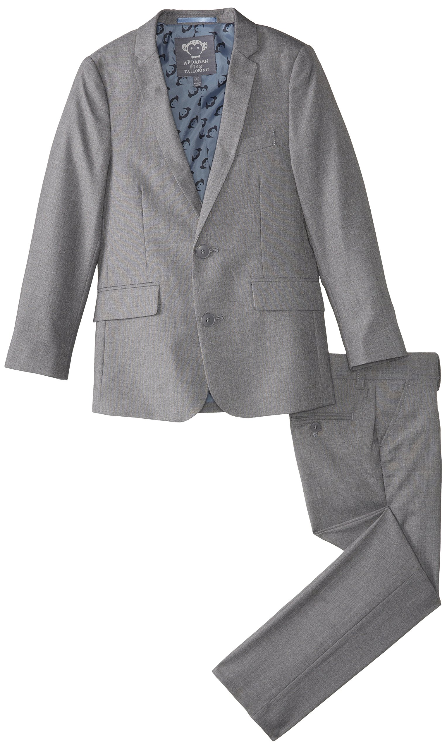 Appaman Big Boys' Two Piece Classic Mod Suit, Mist, 12