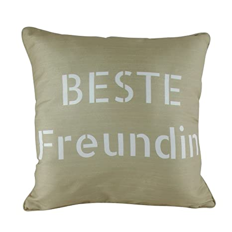inhoma mejor amiga funda de cojín, seda sintética, doble ...