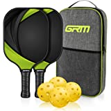 GRM Pickleball Paddles Set of 2 Graphite Pickleball Set Lightweight Pickleball Racket, 2 Pickleball Paddles and 4 Balls…