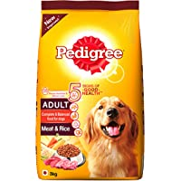 Pedigree Adult Dog Food, Meat and Rice, 3 kg Pack