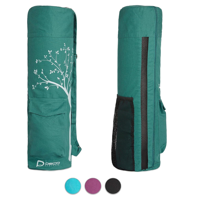ヨガマットバッグ – Fits up to 25 inマット、大きなポケット、部屋の水ボトル、タオル&ブランケット。汗性ファブリック。フルZipで簡単アクセス。1つツリー接地for Everyバッグ購入。 B074PZN547 グリーン2 グリーン2
