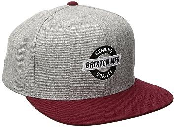 Brixton Newell Snapback Gorra, Unisex adulto, light heather grey/Burgundy, talla única: Amazon.es: Deportes y aire libre
