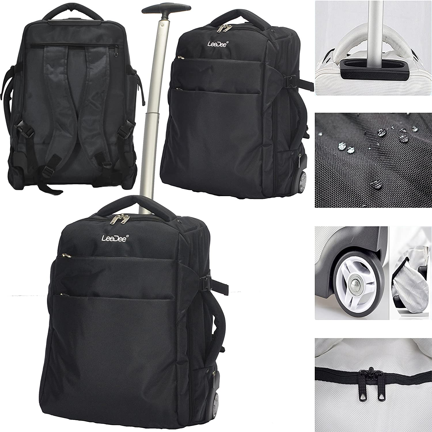 4e44e52aa2bf 3 in 1 Wheeled Cabin Approved Trolley Travel Bag Flight Backpack Hand  Luggage Suitcase Holdall Laptop larger image