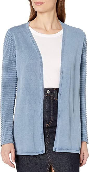 Heather B Women's Ottoman Acid Wash Cardigan at Amazon