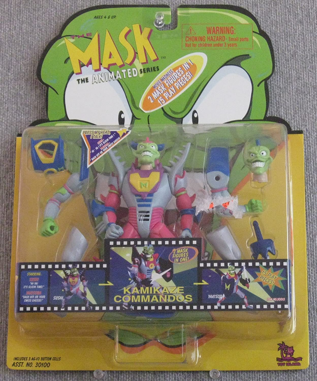 THE MASK ANIMATED SERIES MONSTER MASK ACTION FIGURE by AFLOT ...