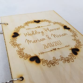 Personalised Heart Wedding Planner Book Mr And Mrs Mr And Mr