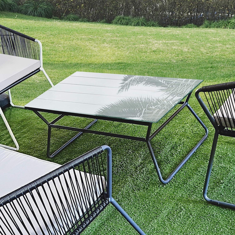 neu.haus Glasplatte 85x75cm Eckig Glasscheibe Tischplatte ESG Glas Kaminplatte Kaminglas DIY Tisch