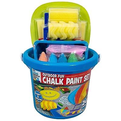 RoseArt Sidewalk Chalk Outdoor Fun Chalk Paint Set: Toys & Games