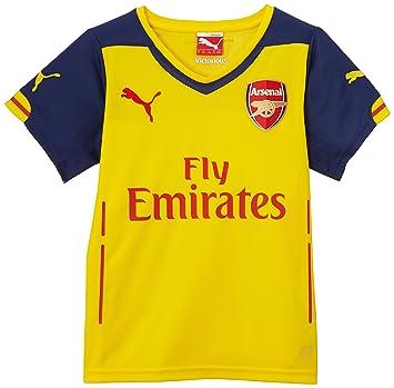 PUMA Kinder Trikot AFC Kids Away Replica Shirt - Camiseta de fútbol para niño, color