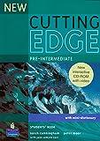 New Cutting Edge Pre-Intermediate Students (Book & CD ROM)