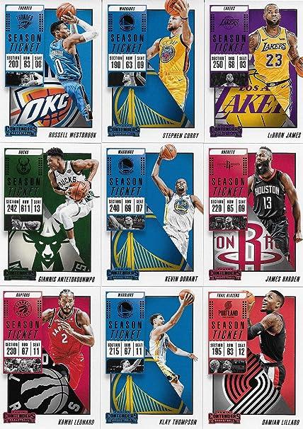 2018 2019 Panini Contenders NBA Basketball Series Juego completo ...