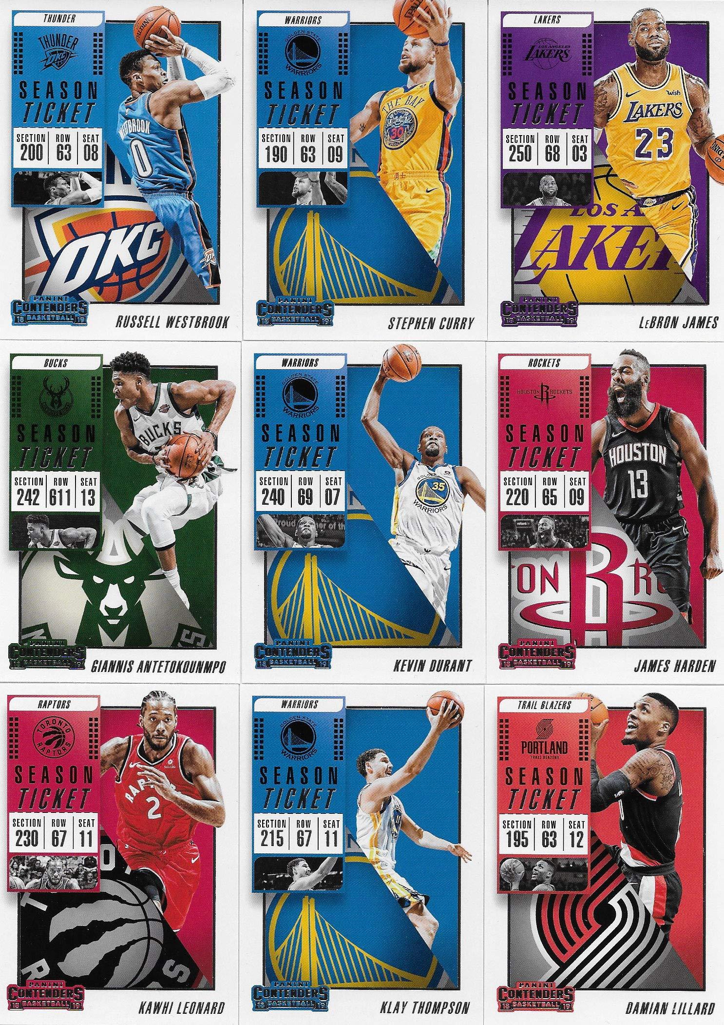 2018 2019 Panini Contenders NBA Basketball Series