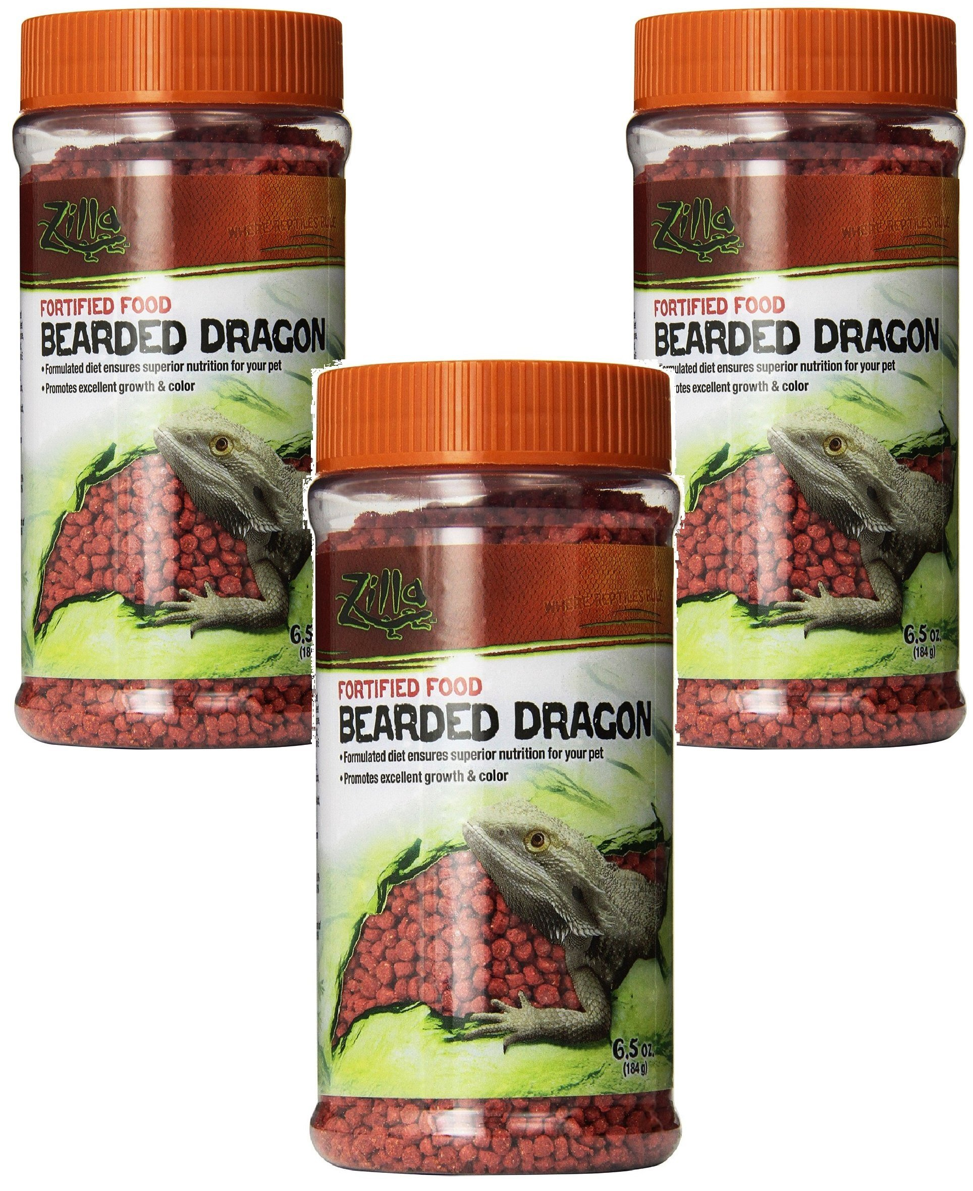 Zilla Reptile Food Bearded Dragon Fortified, 6.5-Ounce (3 Pack) by Zilla (Image #1)