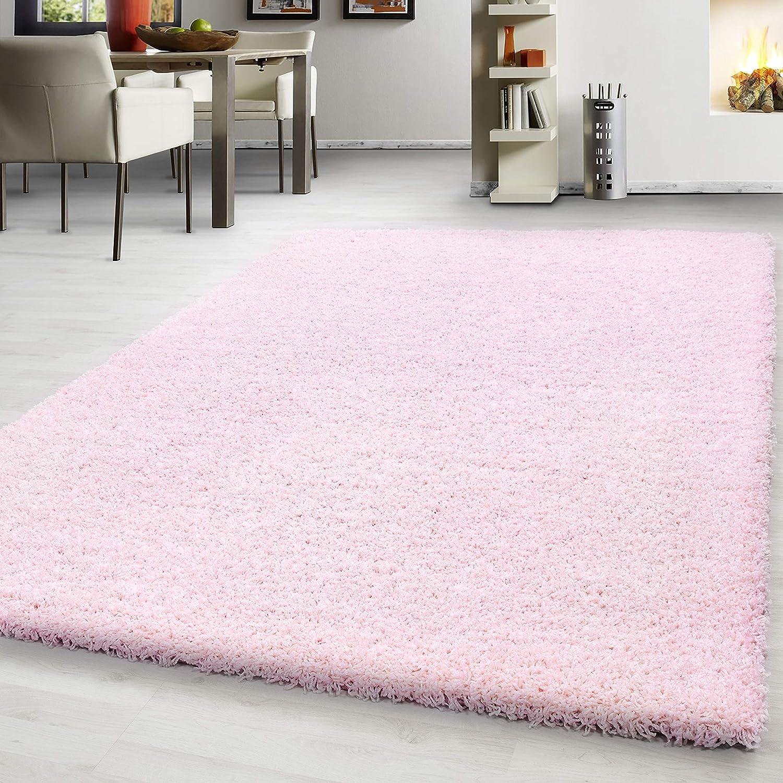 Hochflor Shaggy Teppich Wohnzimmer 3 cm Florhöhe einfarbig einfarbig einfarbig Teppiche mit OKOTEX, Maße 160x230 cm, Farbe Grau B07H3XHQ15 Teppiche 8df822