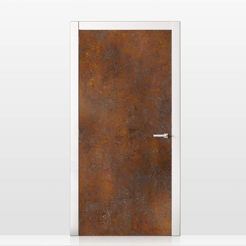 MEGADECOR Vinilo Adhesivo Decorativo para Puertas Chapa Placha Metalica Oxidada