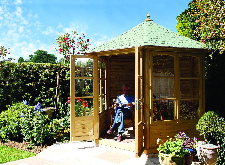 Jardín Verde - Quiosco Cenador Octogonal de madera