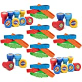 Superhero Party Favors Set, 24 Super Hero Rubber Bracelets, 24 Stamps, Parties Supplies for Kids, Boys & Girls, Children Birthday Supply, By 4E's Novelty