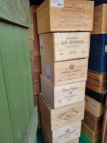 Desconocido Magnum - Caja de Madera para 6 Botellas de Vino, diseño Retro: Amazon.es: Hogar