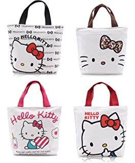 Finex - Set of 2 - Hello Kitty Canvas Zippered Tote with Top Carry Handles - 66e9139f42417