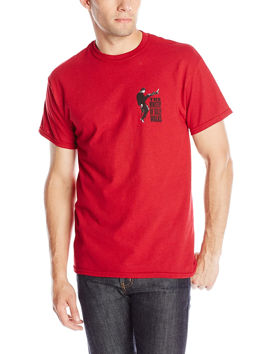 Liquid Blue Men's Monty Python Ministry Of Silly Walks T-Shirt Liquid Blue Young Men' s 11064-Red-X-Large