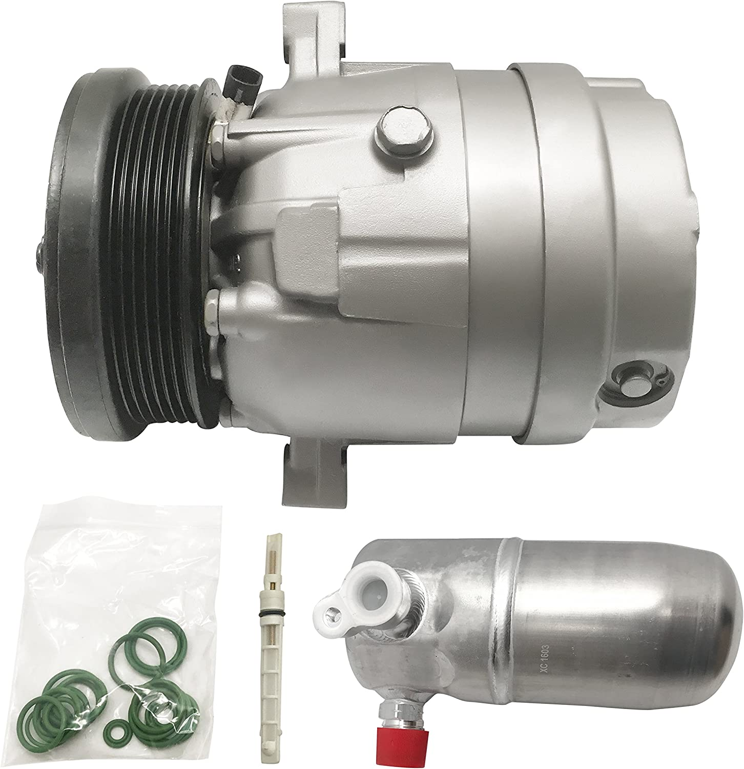 RYC Remanufactured AC Compressor and A//C Clutch Kit EG144K1