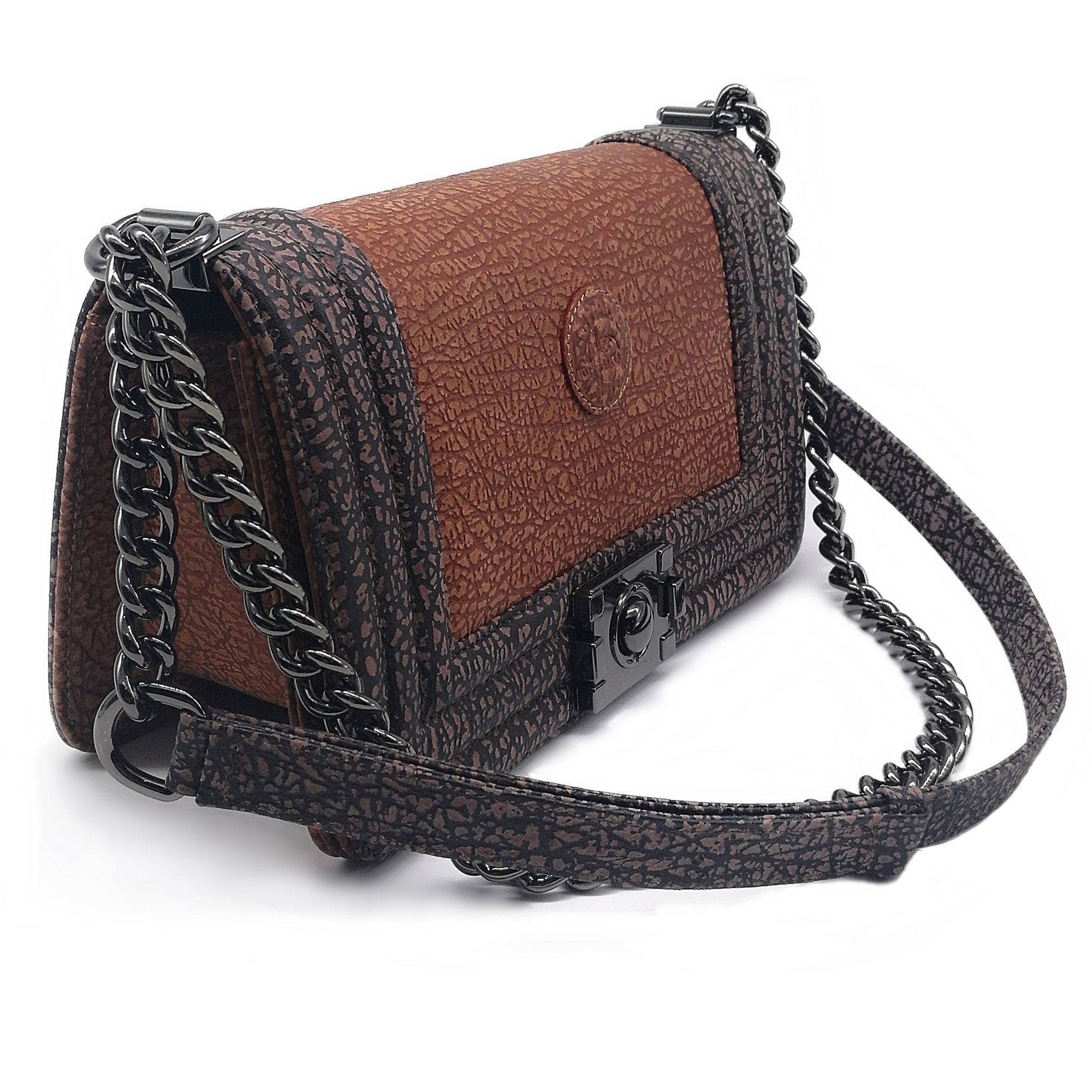 Genuine Leather Shoulder Bag For Women Classic Style Size 25x14.5x7.5 CM-Light Brown by Treasure
