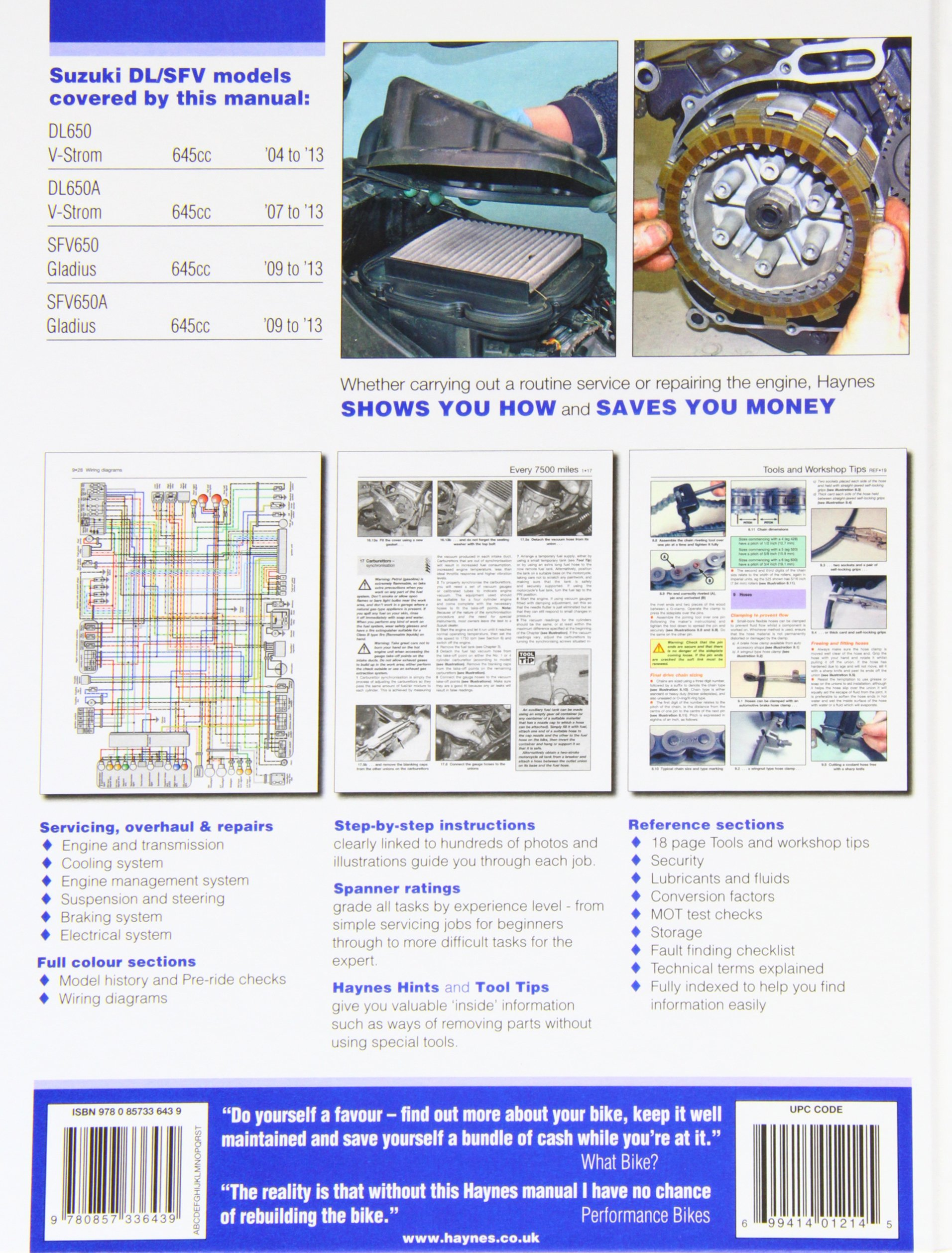 Suzuki Dl650 V Strom Sfv650 Gladius 04 13 John Simple Wiring Diagram 600 Haynes Fremdsprachige Bcher