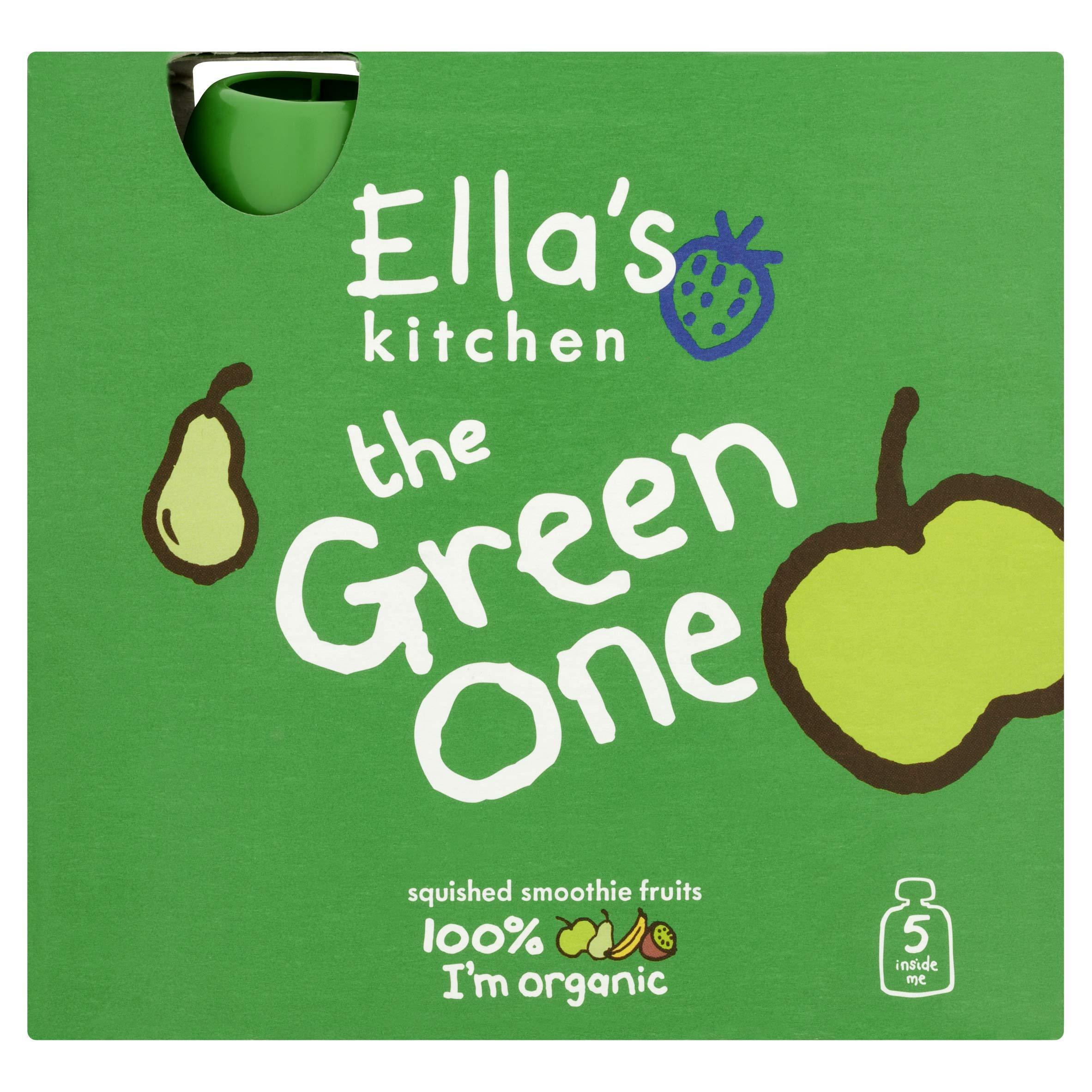 Ella's Kitchen The Green One Organic Fruit Smoothie, 5x90g