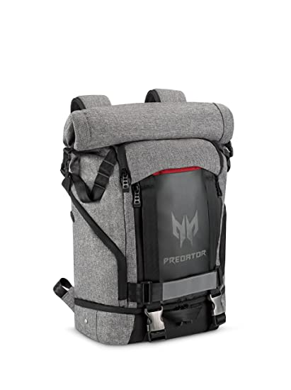"""6c53b8b68d20 Acer Predator Gaming Rolltop Backpack 15.6"""" for all Gaming Laptops –  Expandable space up to 35.5L capacity, Travel backpack, organized pockets  for all ..."""