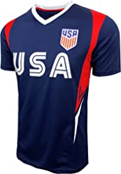 USA Soccer Jersey for Kids and Adults, US Officially Licensed Training Performance Jersey