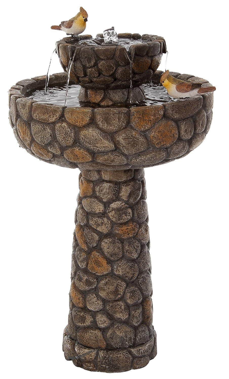 [エコ ソラレー] Eco Solaray 玉石模様の水盤とソーラーパワー式ウォーターファウンテン - WF3657 B003N78RCA