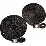 Taylor Made Products Fender Loc, Braided Line with Loop, 6 Foot Length, 3/8 inch Diameter, 2 Pack