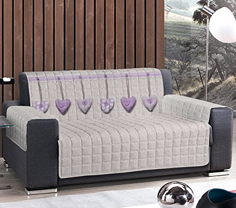Sofá o sillón Plazas 2 Dos (120 125 cm) 3 3 (170 175 cm) 4 Quattro (230 235 cm) DIVANO 4 POSTI 230/235 Cuori Appesi - Lilla