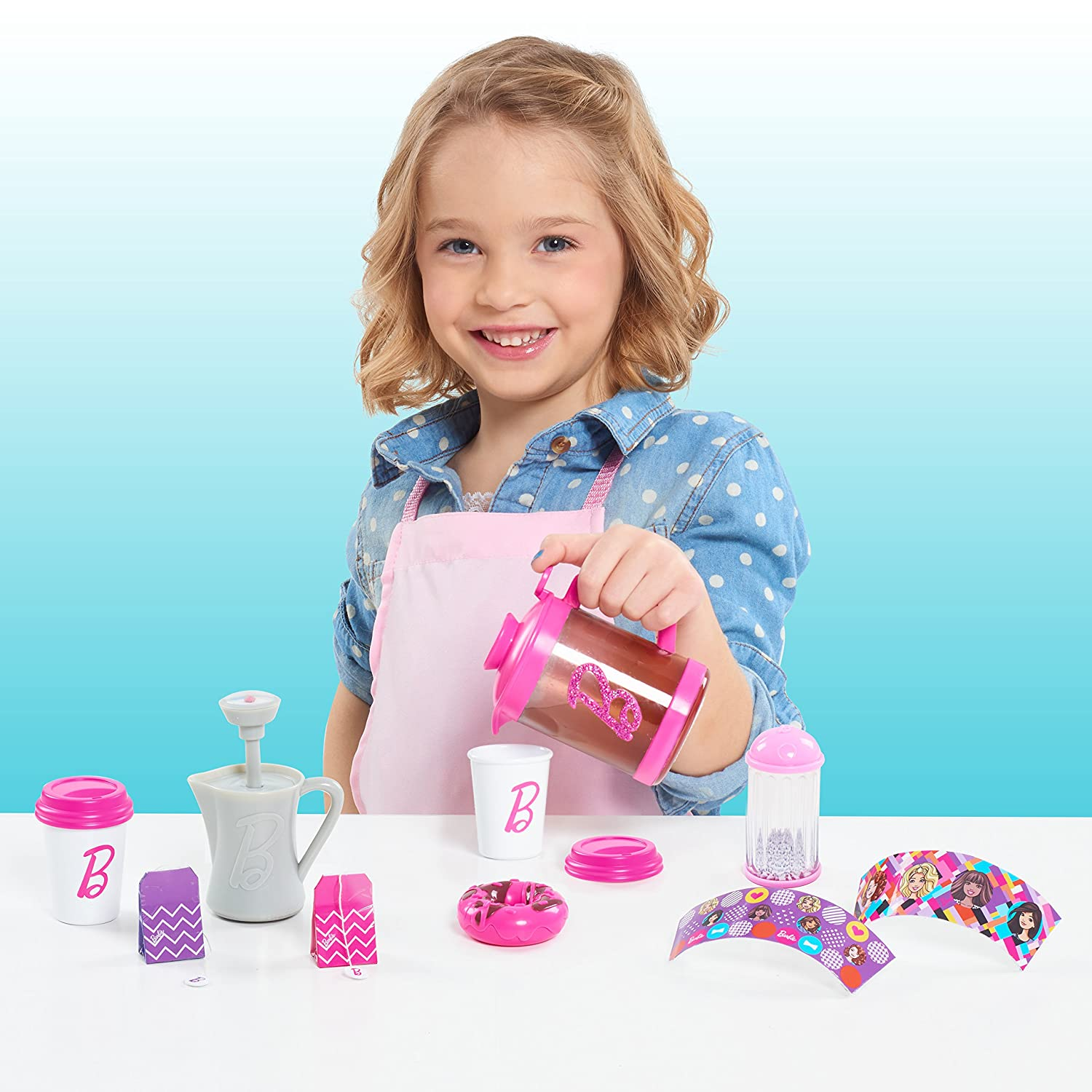 Amazon.com: Barbie Just Play 62546 Barista Set: Toys & Games