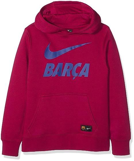 Nike Infantil FC Barcelona Hoodie, Infantil, 891916-620, Noble Red/Deep