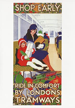 Vintage Bild London Bus Straßenbahnen Werbung 1928 Shop Early London ...
