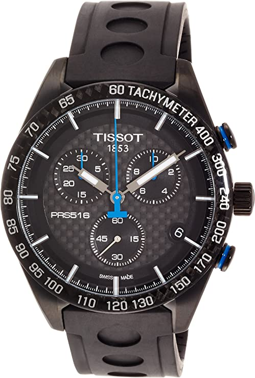 Tissot Herren Armbanduhr 42mm Armband Kautschuk Schwarz Quarz T1004173720100 Uhren