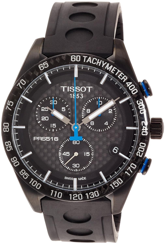 7d027793635 Amazon.com: Tissot Men's PRS 516 Chronograph - T1004173720100 Silver/Black  One Size: Watches